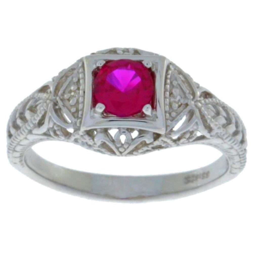 0.50 Ct London Blue Topaz /& Diamond Round Ring .925 Sterling Silver